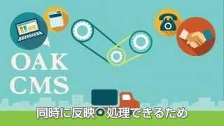 スリムに管理、受発注管理システム『オークCMS』
